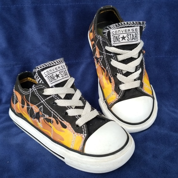 f816e0644772 Converse Other - Converse low top with flames. Toddler size 8